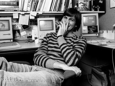 Steve Jobs y la tipografía digital. © Norman Seeff / Rolling Stone