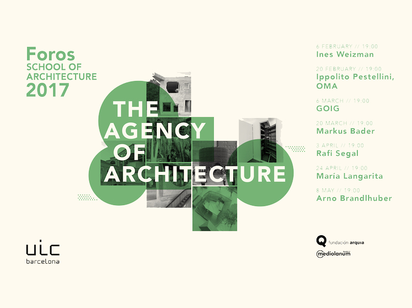 Nuevo ciclo de conferencias de la School of Architecture de UIC Barcelona