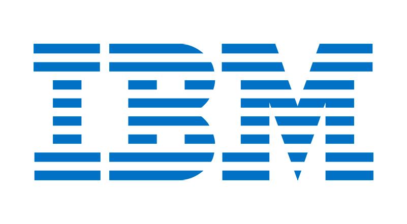 Un logo de IBM con arcoiris a favor de la igualdad de género
