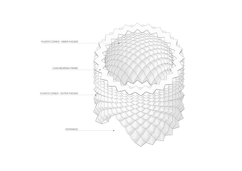 Parametric Glacier Pavilion, de Didzis Jaunzems Architecture, 2016