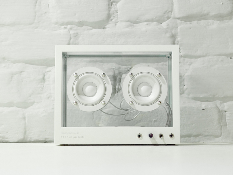 Small Transparent Speaker, el altavoz transparente de People People