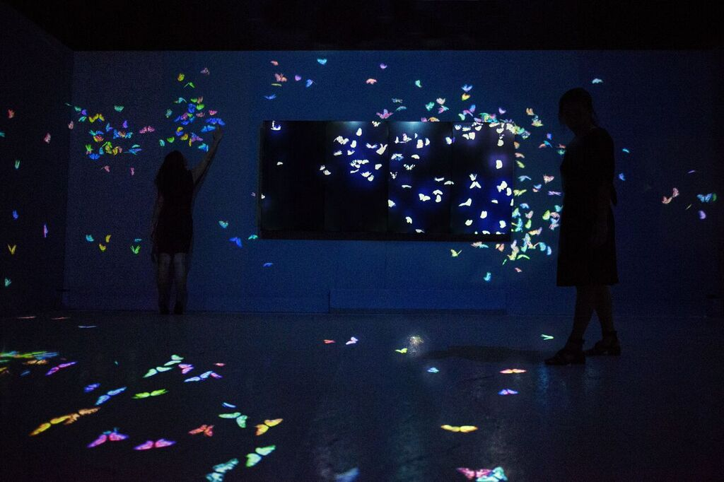 Flutter of Butterflies beyond Borders, TeamLab en Pace London