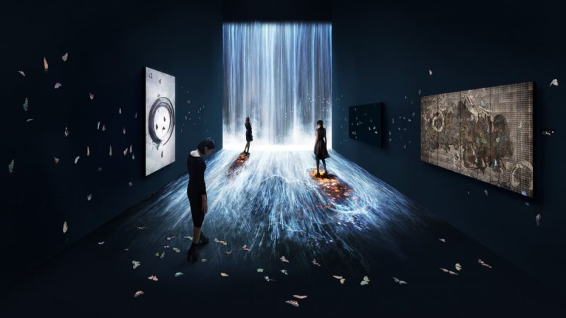Universe of Water Particles, Transcending Boundaries (2017), TeamLab en Pace London