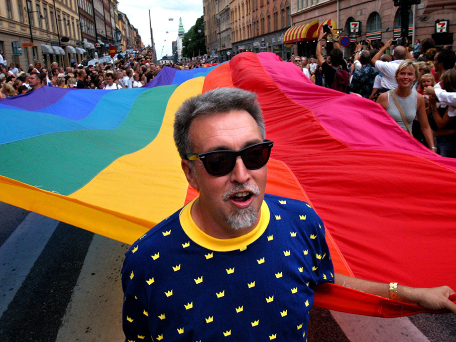 Gilbert Baker, Stockholm Pride Parade , 2003.