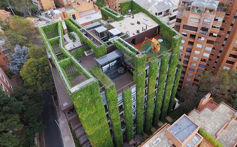 El jardín vertical más grande del mundo en Bogotá