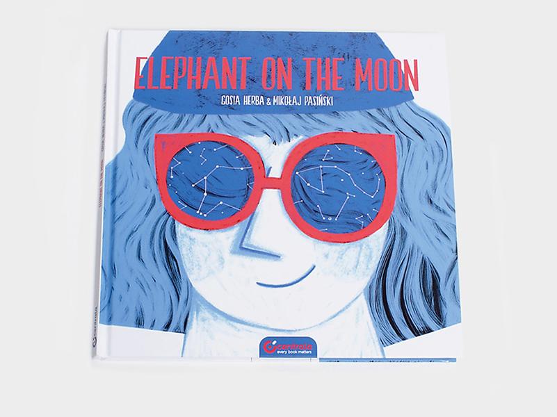 Elephant on the moon, cuento ilustrado por Gosia Herba y Mikołaj Pasiński