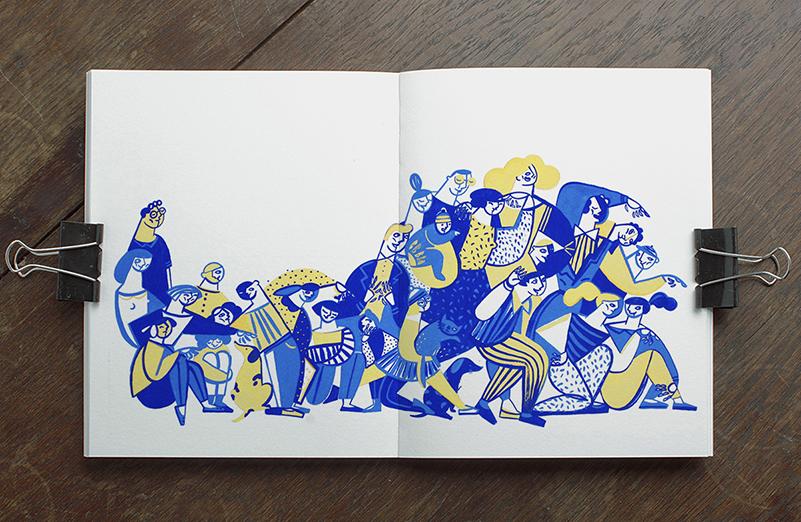 Elephant on the moon, un cuento ilustrado por Sosia Herba y Mikołaj Pasiński