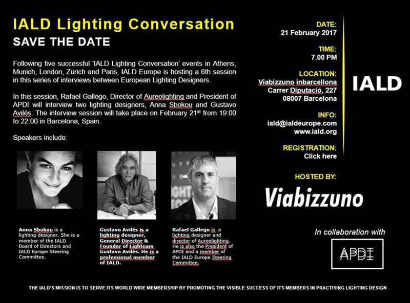 IALD Lighting Conversation, jornada sobre iluminación el 21 de febrero en Barcelona