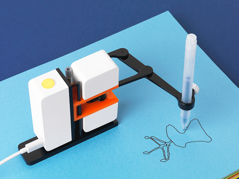 Line-us, mini brazo robot que recrea tus dibujos en tiempo real