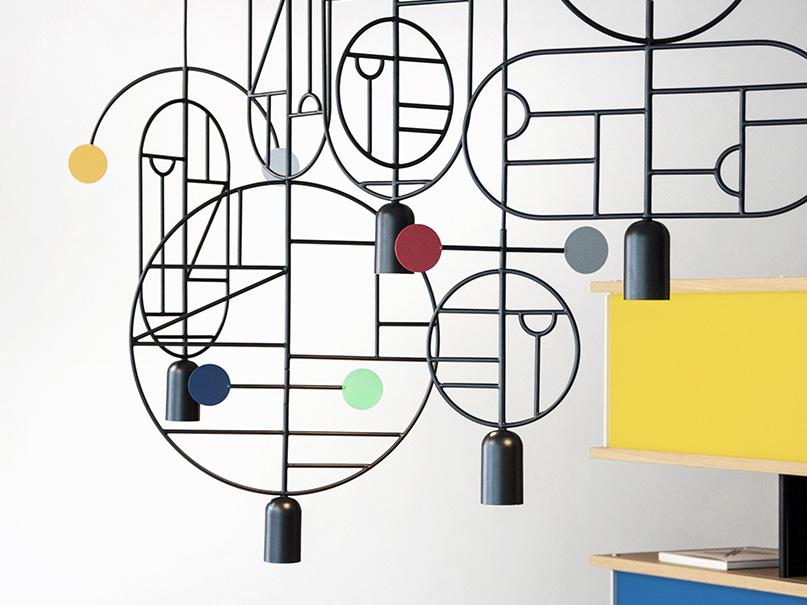 Lines & Dots, lámparas de suspensión de Goula/Figuera