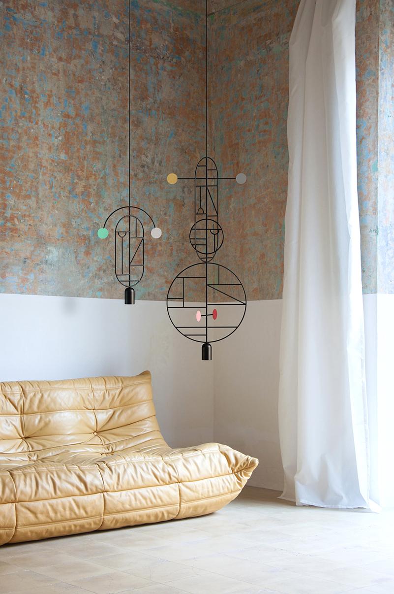 Lines & Dots, lámparas de suspensión de Goula/Figueras