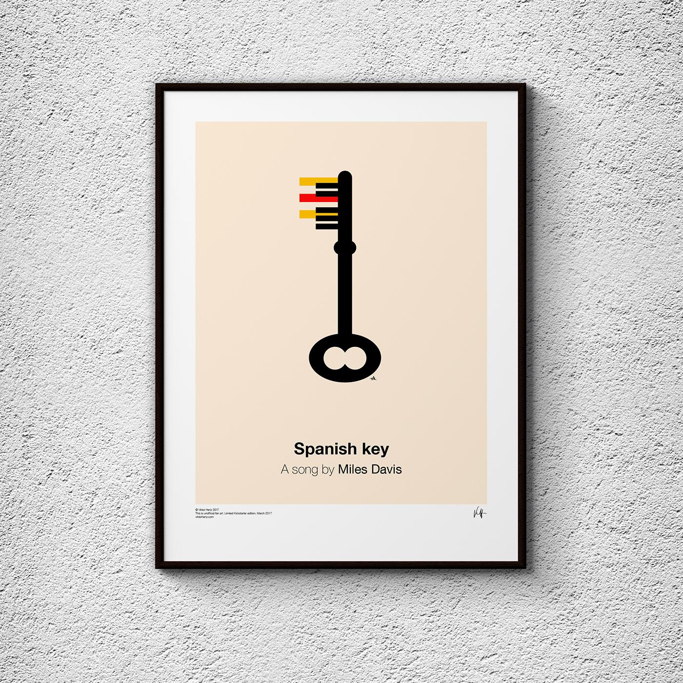 Pictogram Music Posters, los posters inspirados en la música, Viktor Hertz, (Suecia), 2017