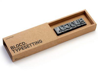Typesetting, los tipos móviles de caramelo de BLOCD