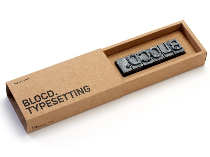 Typesetting, los tipos móviles de caramelo de BLOCD.