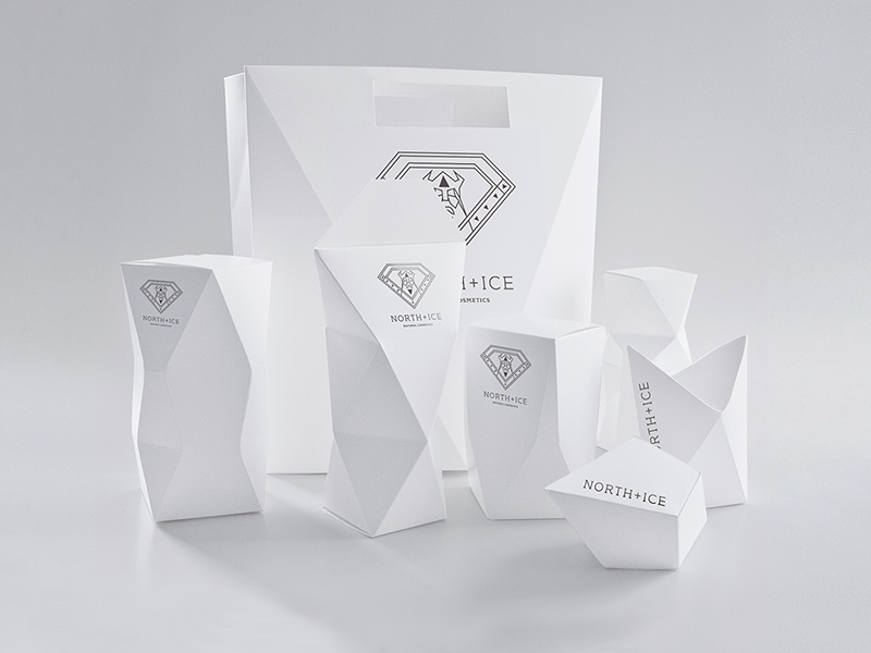 Branding y packaging de Iwona Przybyła para North Ice