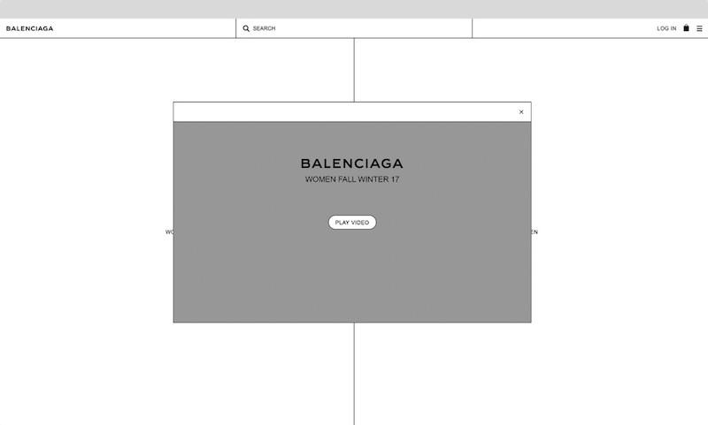 Sitio del diseñador Cristóbal Balenciaga.