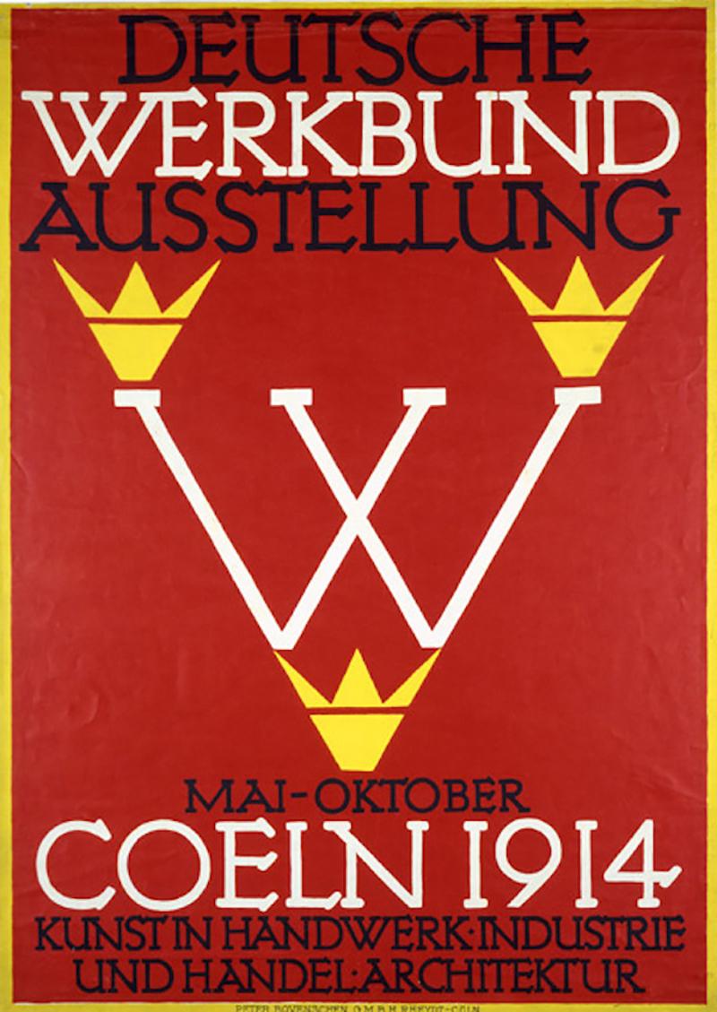 Deutscher Werkbund fundada en 1907, estaba representada por diseñadores arquitectos