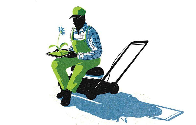 Ilustración para el artículo Touch and go, revista New Scientist
