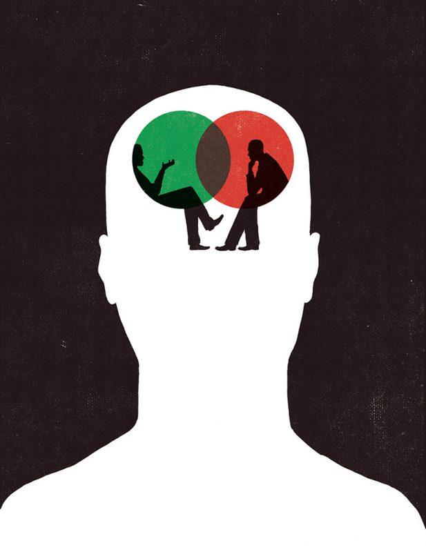 Ilustración para el artículo The Inner Voice, de la publicación New Scientist