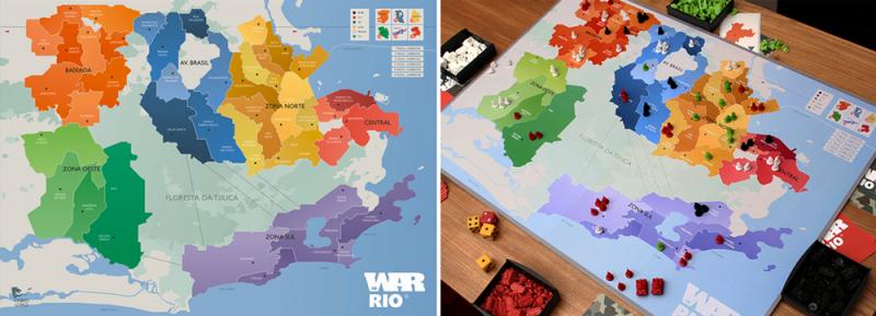Los juegos de mesa de Fabio Lopez, Río de Janeiro como campo de batalla