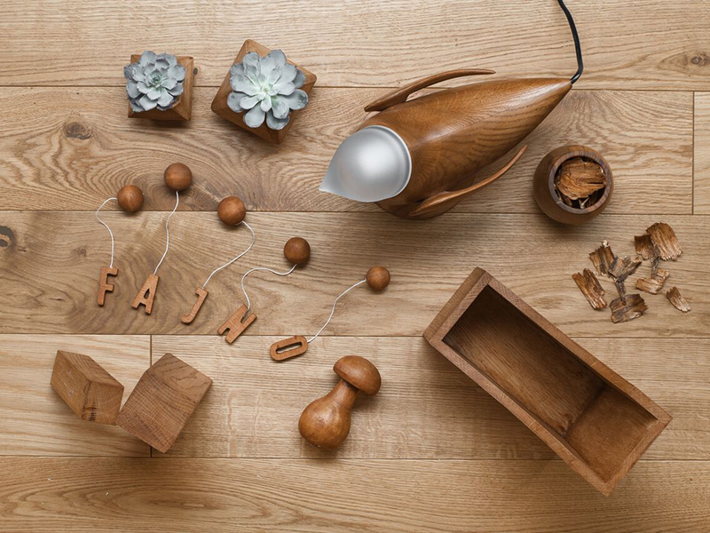 Marina's Birds, lamparas de madera de Fajno Design