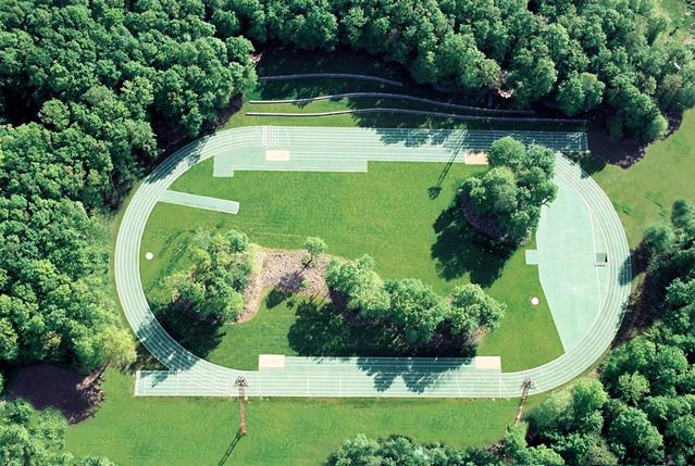 Tossols-Basil Athletics Track, 2000, Olot, Girona (España), ©Ramón Prat