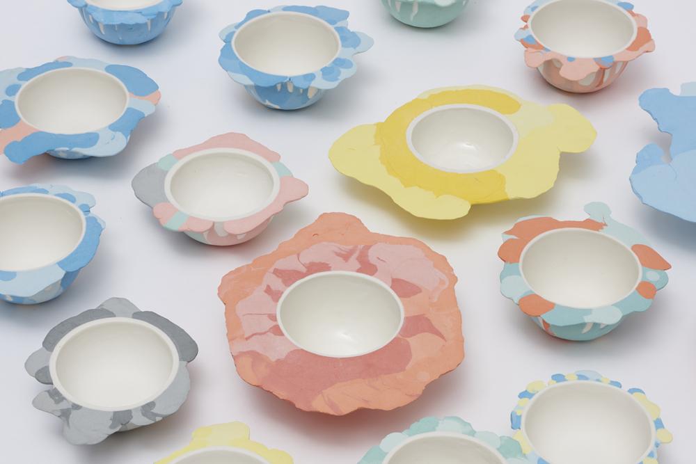 Liquid Series bowls, de Alissa Volchova. Fotografía: Sylvain Deleu