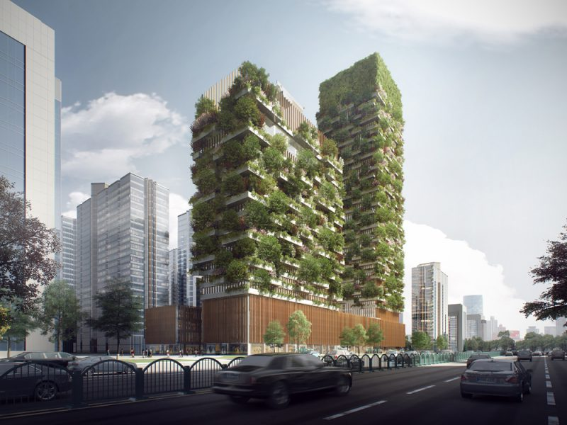 Nanjing Vertical Forest, el bosque vertical de Stefano Boeri Architetti China