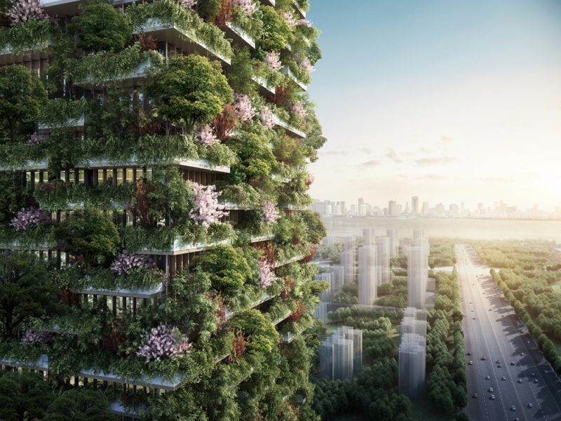 Nanjing Vertical Forest, el Bosque Vertical de Stefano Boeri Architetti en China