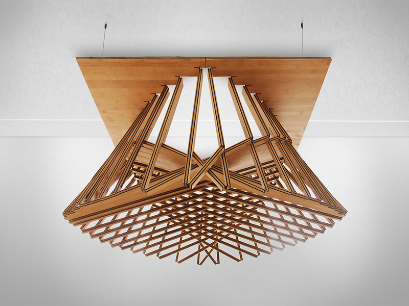Rising Light Fixture, lámpara plegable de Robert van Embricqs