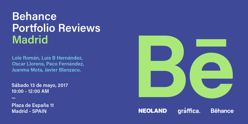 Behance Reviews Madrid 2017. 13 de mayo, Madrid