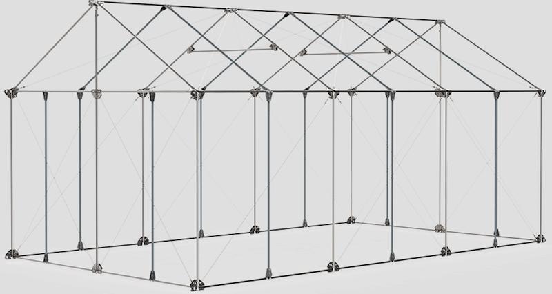 Una estructura ligera pero estable, fácilmente montable y desmontable