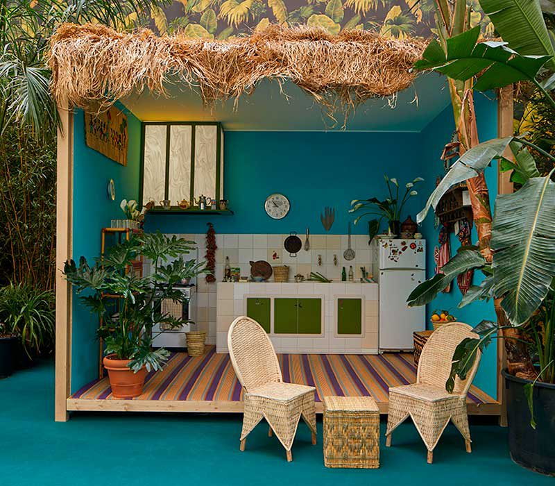 Corian Cabana Club, las cabañas de Corian en el Fuorisalone de Milán