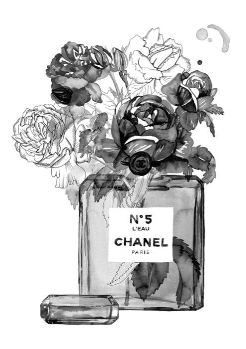 Chanel, ilustración, 2017