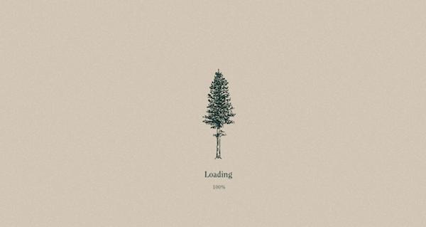 Un árbol ha sido el diseño escogido para la carga del sitio