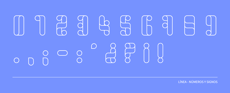 Tipografía estilo línea, número
