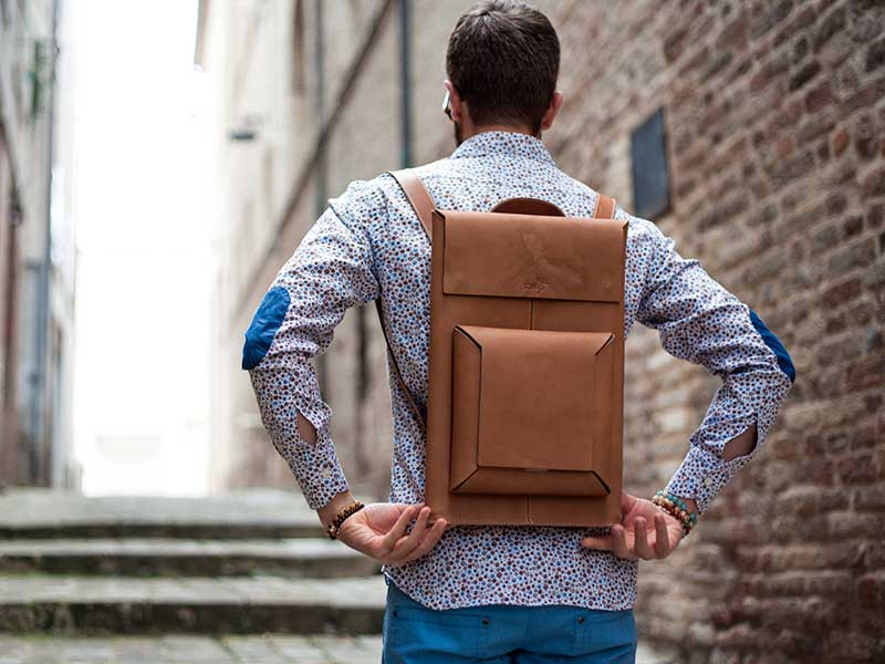 Macbook Sleeve Backpack, la mochila para Macbook de Stefano Andri