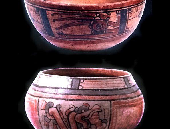 Cerámica policroma hallada en El Valle del Jícaro con iconografía del referente mesoamericano. Foto cortesía del Museo del Jade.