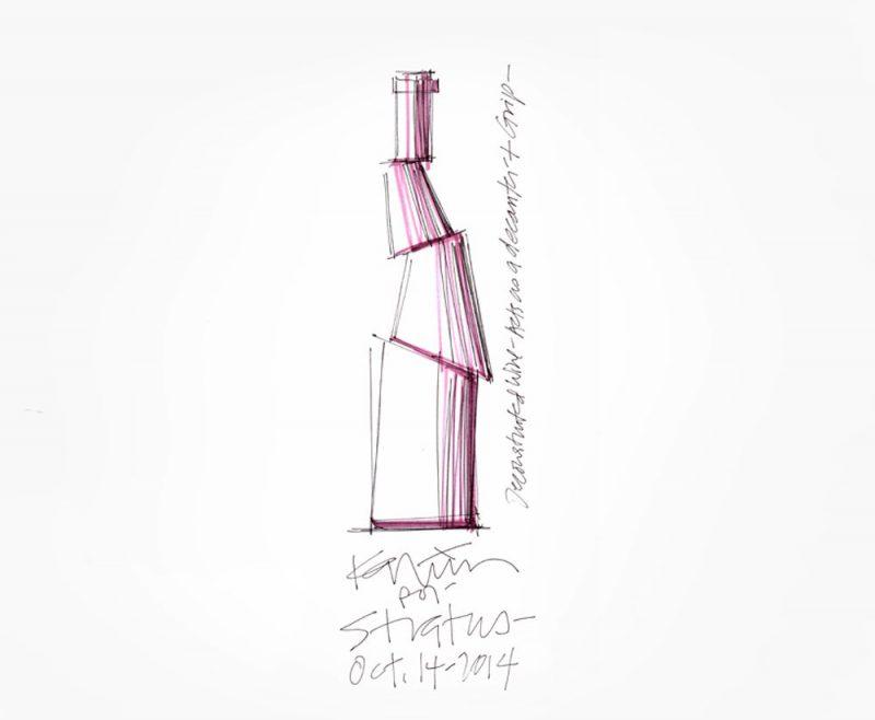 Decant, la botella de vino deconstruida de Karim Rashid
