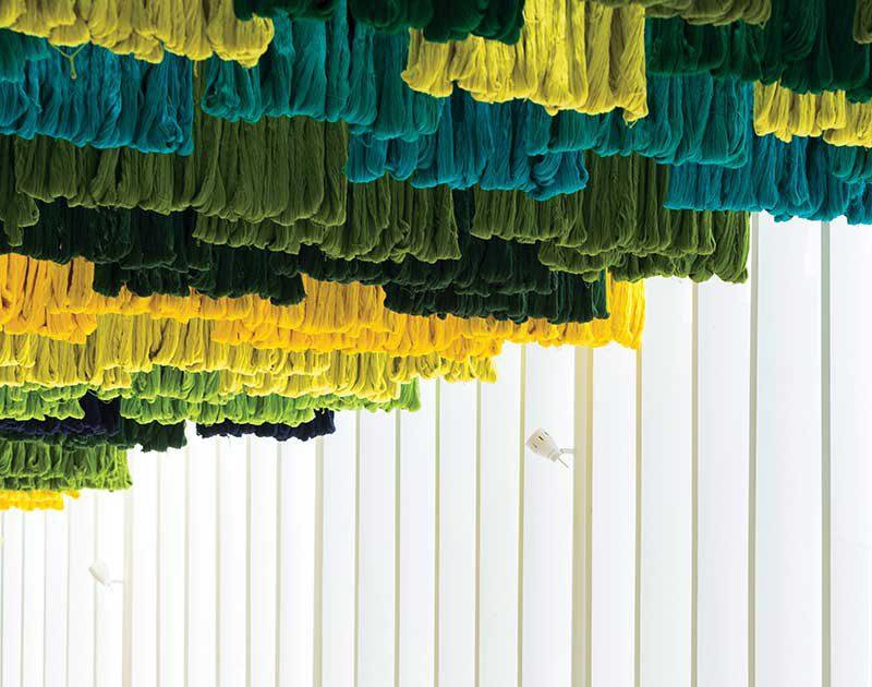 La pérgola de hilos de Taller KEN para el restaurante Saúl Zona 14 Canopy de Guatemala