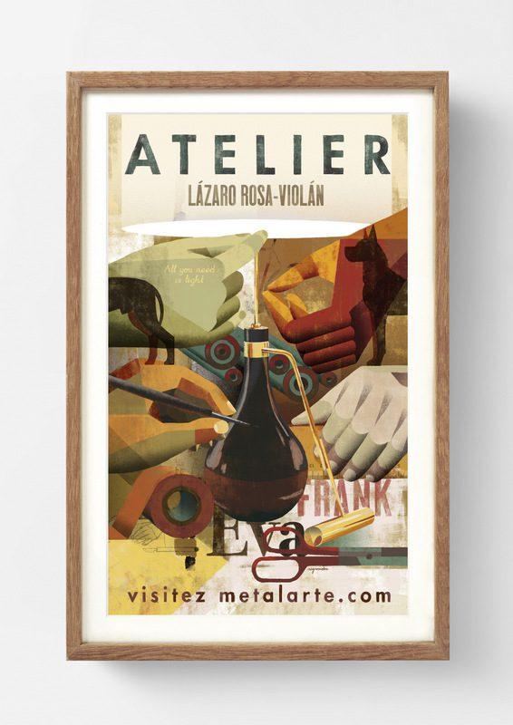 Visitez Metalarte. Joan Negrescolor ilustra las lámparas de Metalarte
