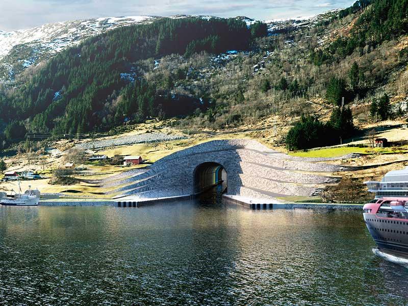 Snøhetta diseña en Noruega el primer túnel marítimo para barcos del mundo