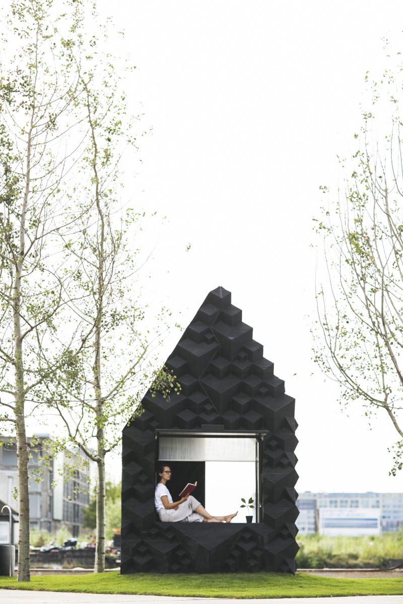 '3D. Imprimir el mundo', Fundación Telefónica. Urban Cabin, DUS architects, 2016. ®Ossip van Duivenbode
