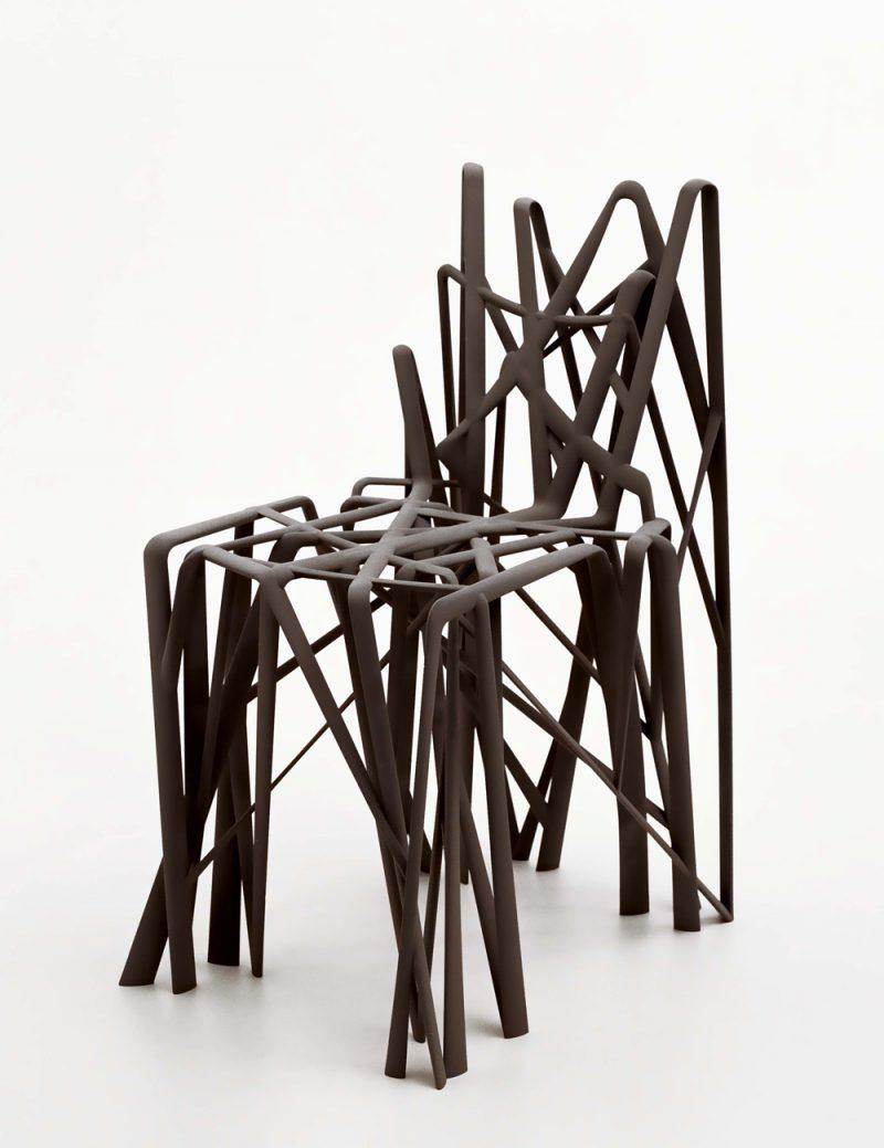 '3D. Imprimir el mundo', Fundación Telefónica. Patrick Jouin para MGX, Materialize. Solid C2 Chair, 2005