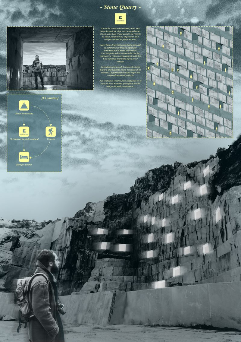 Ganadores del Cosentino Design Challenge 11. Categoría Arquitectura: 'Stone Quarry', Ángel Cobo (ETSAM)