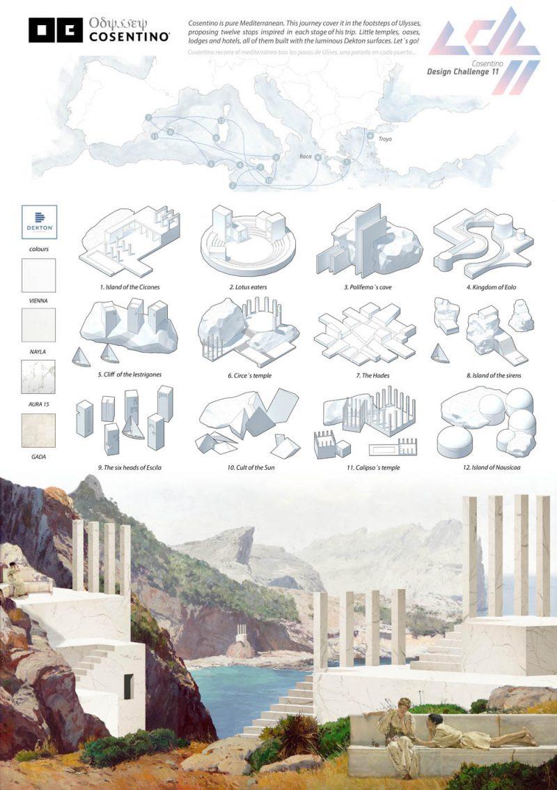 Ganadores del Cosentino Design Challenge 11. Categoría Arquitectura: 'Odyssey', Arturo Garrido (ETSAM, erasmus en la UPM Roma)