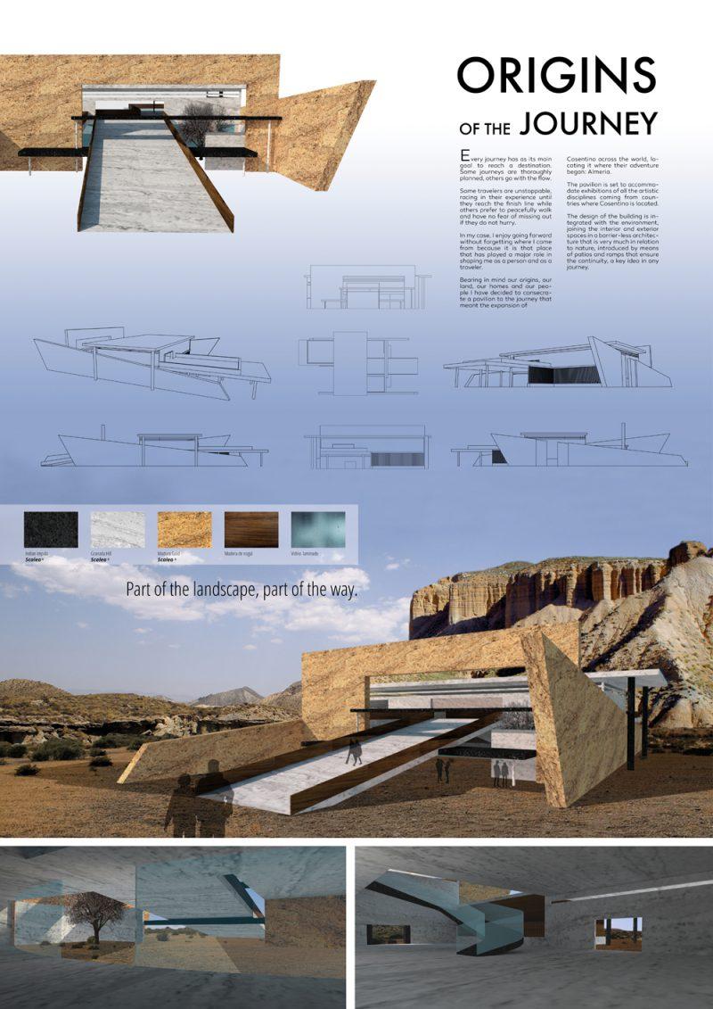 Ganadores del Cosentino Design Challenge 11. Categoría Arquitectura: 'Origins of the journey', Jorge Martinezuno (Escuela Arte de Zaragoza)