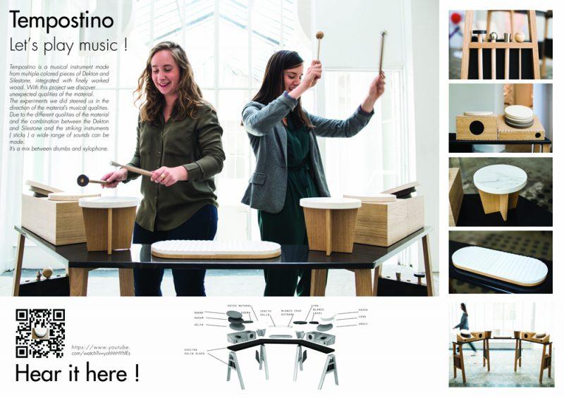 Ganadores del Cosentino Design Challenge 11. Categoría Diseño: 'Tempostino', Louise Bouglier y Bérangère Peries (Esam Design París)