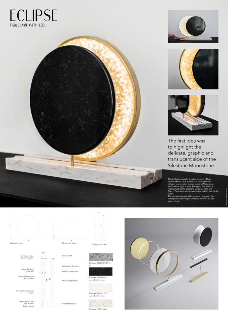Ganadores del Cosentino Design Challenge 11. Categoría Diseño: 'Eclipse', Camille Delalande y Aurélien Jolly (Esam Design París)