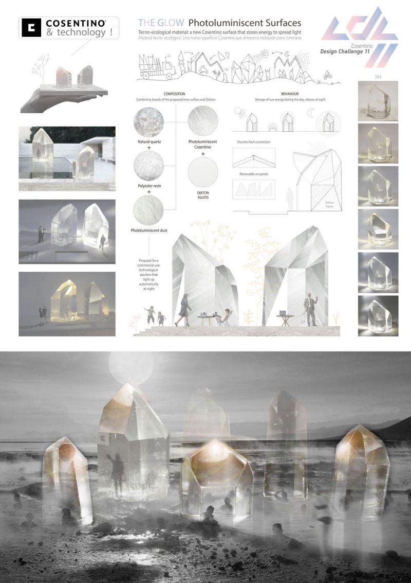 Ganadores del Cosentino Design Challenge 11. Categoría Diseño: 'The GLOW', Arturo Garrido (ETSAM, erasmus en la UPM Roma)